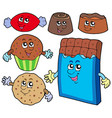 chocolate sweets collection vector image
