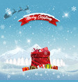 color background with christmas presents in retro vector image vector image