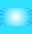 comic blue sun rays background pop art retro vector image vector image