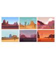 desert landscape natural sandy hot open yellow vector image vector image