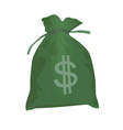 dollar bag vector image