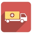 Drugs Shipment Flat Rounded Square Icon with Long vector image vector image