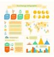 Eco energy infographic print vector image vector image