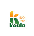 eco zoo park concept letter k icon vector image vector image