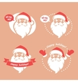 Emblems with Santa vector image vector image