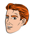 face man pop art style image vector image vector image