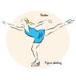 figure skating vector image vector image
