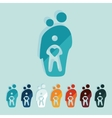 Flat design family vector image