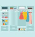 flat design walk in closet vector image vector image