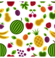 Fruits and berries seamless background vector | Price: 1 Credit (USD $1)