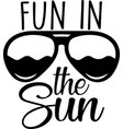 fun in sun on white background vector image vector image