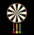 game with darts in flat design style vector image vector image