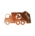 garbage car recycle icon vector image vector image