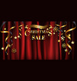 gold christmas background sale banner design for vector image vector image