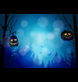 halloween greeting card invitation with spooky vector image