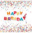 happy birthday holiday banner inscription happy vector image vector image
