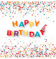 happy birthday holiday banner inscription vector image