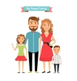 Happy family Parents and kids vector image