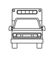 isolated ambulance truck vector image vector image