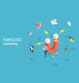 isometric flat concept of digital inbound vector image vector image