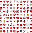 Love 100 Concept Shape Design Set 12 vector image vector image