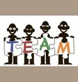 men team puzzles vector image vector image