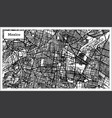 mexico city map in black and white color vector image