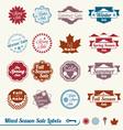 Mixed Season Sale Labels vector image