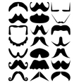 Moustache silhouettes vector image vector image