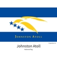 National flag of Johnston Atoll with correct vector image
