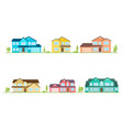 neighborhood with homes on white vector image vector image