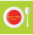 new year soup vector image