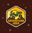 off road 3x3 adventure badge banner vector image vector image