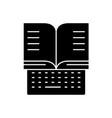 online education black concept icon online vector image vector image