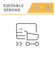 online shopping editable stroke line icon vector image vector image