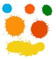 paint splash set brush strokes vector image vector image