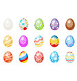 painted colorful easter chocolate eggs spring vector image