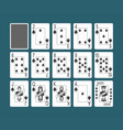 playing cards spades set vector image vector image