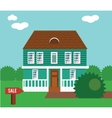 Real estate on sale House cottage townhouse vector image vector image