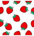 red fruit of doodle style vector image vector image