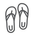 sandals line icon footwear and beach flip flops vector image