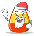 santa candy corn character cartoon vector image vector image