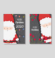 santa claus lights and berries merry christmas vector image