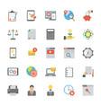 seo and marketing flat icons set vector image vector image