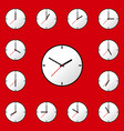 set clock icon design eps10 vector image vector image