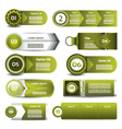 Set of green progress version step icons eps 10 vector image