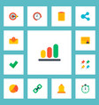 set of project icons flat style symbols with vector image vector image