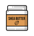 shea butter jar with nuts logo background isolated vector image