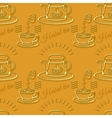 Silhouette cups and tea-pots vector image vector image