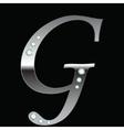 silver metallic letter G vector image vector image